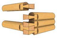 схема рубки в лапу