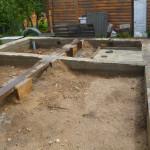 Готовый ленточный фундамент под сруб