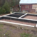 готовый ленточный фундамент для дома 4 на 6