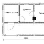 проект сруба бани 3 на 6 метров