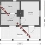 проект сруба бани 3 на 6 метров с верандой