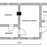 проект сруба бани 4 на 5 метров