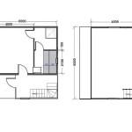проект сруба бани 4 на 6 с мансардным этажом