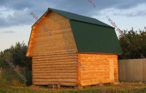 Сруб бани 4 на 5 с ломанной крышей