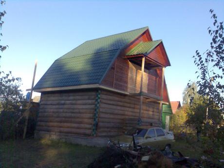 Сруб дома 5 на 5 с ломанной крышей