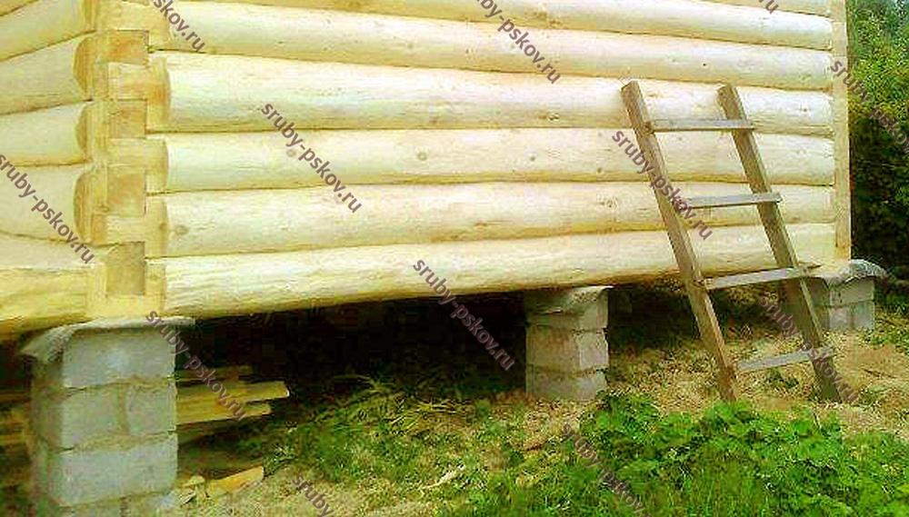 Столбчатый фундамент для бани 3х3