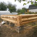 Столбчатый фундамент для сруба бани 5 на 5