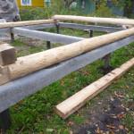 Свайный фундамент для сруба бани 5 на 5