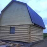 сруб дома 6 на 8 с ломанной крышей