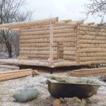 Сборка бани 4 на 6 метров с мансардой