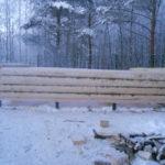 Сборка сруба дома 4 на 6 метров