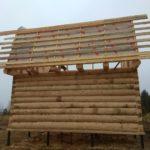 Установка сруба дома 6 на 6 метров